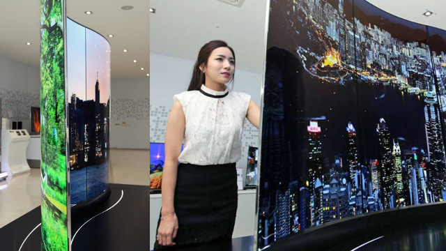LG Display - Three 55-inch OLED TV configured at one display<