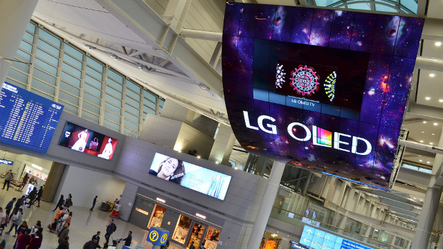 LG Display - Large OLED signage at Incheon Airport