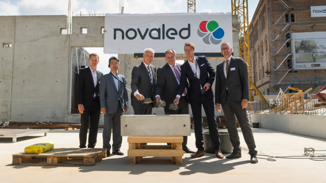 Novaled - Laying the cornerstone at the new company HQ