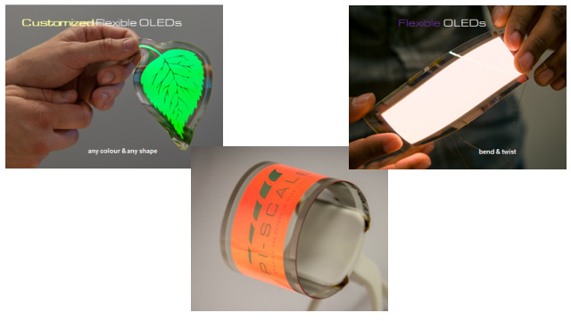 PI-Scale - Flexible OLED lighting panels