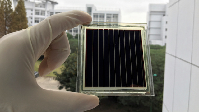 Shanghai Univerist/Swiss Federal Institute A perovskite solar module with a size of 36 cm<sup>2</sup>