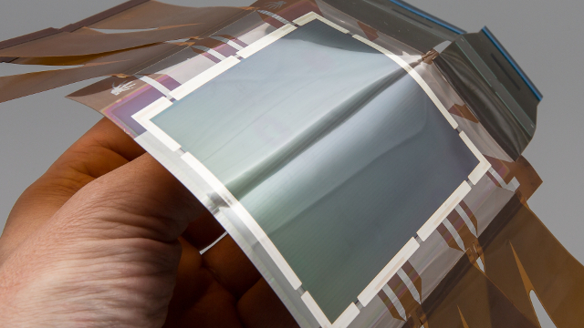 Holst Centre | imec | Philips - Prototype of a curved photodetector on a plastic substrate