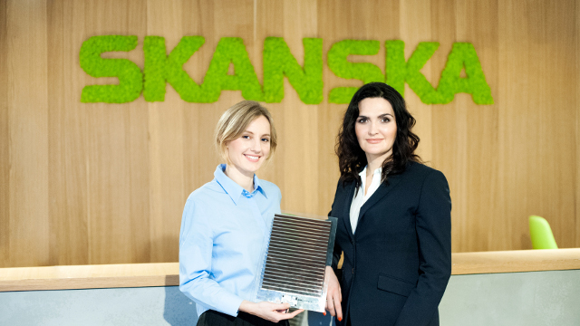 Saule Technologies/Skanska - Olga Malinkiewicz, co-founder and CTO at Saule Technologies and Katarzyna Zawodna, CEO of Skanska's commercial development business in CEE